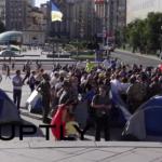 Повторно подигнати шатори на Мајдан