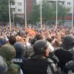 Една затворска и три условни казни за демонстрантите