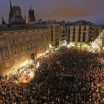 Протест на Каталонците поради истрагата за референдумот