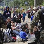 Повредени 18 полицајци на јужната граница