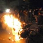 Дванаесет приведени, повреден новинар и фоторепортер е билансот од протестите