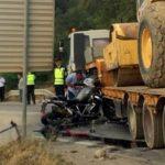 Притвор за возачот на влекачот во кој се удри мотоциклистот кој загина кај Требениште