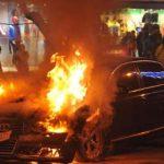 """Опожарено """"ауди"""" во центарот на Скопје"""