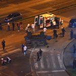 Возило удри во  полициски конвој