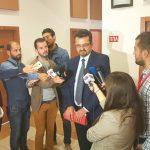 (ВИДЕО) Караџоски одби да одговори дали ќе понесе одговорност ако се утврди месетење на судии во кривичен