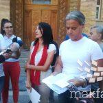 (Видео) Граѓанските здруженија со предлог-закон до Собранието за отпис на долгови направени пред 2014 година