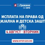 МТСП: Исплата на паричната помош од социјална и детска заштита од денес, во три групи