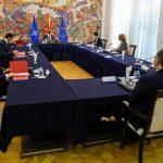 """(Видео) Советот за безбедност заседава во """"Вилата Водно"""" за ситуацијата со Ковид-19"""