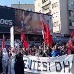 """(Видео) Тензии на протестот за """"Монструм"""": Полициски кордон го спречи движењето на демонстрантите"""