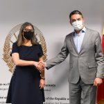 Димитров се сретна со португалската амбасадорка Марија Вирџинија Мендес да Силва Пина